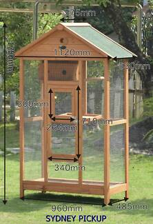NEW EXTRA LARGE WOODEN BIRD CAGE MESH PARROT AVIARY BUDGIE CANARY Auburn Auburn Area Preview