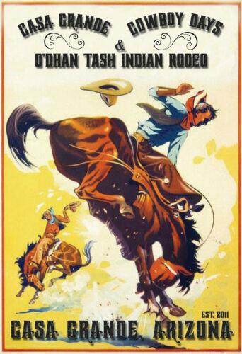 Casa Grande, Arizona Casa Grande Cowboy Days  -  VINTAGE-  RODEO POSTER 12x18