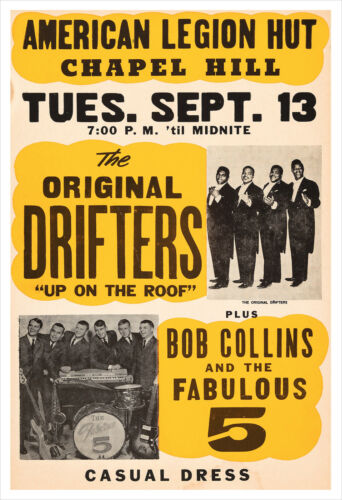 The Drifters concert poster print
