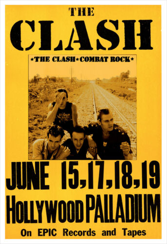 The Clash - Combat Rock concert poster print