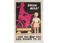20x30 1930s Drink Milk For The Boy You/'re Going To Be 1930s Vintage Poster