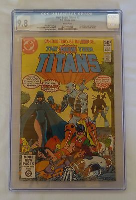 The New Teen Titans #2 - CGC 9.8 WHITE PAGES  (Dec 1980, DC) 1st App Deathstroke