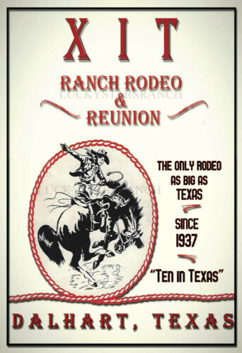 The XIT Ranch Rodeo  - VINTAGE-  RODEO POSTER