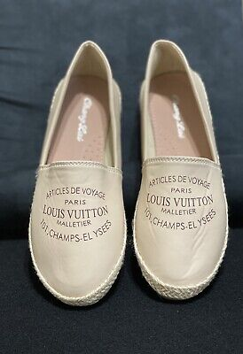 LV Espadrille Flat Pilar Women shoes size US (6.5) EUR(37)