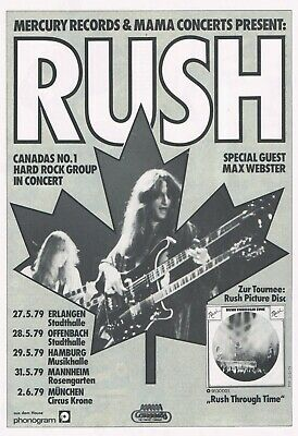 Rush Music Concert Mini Poster 2 sizes to pick from reprint photo  Concert Mini Poster