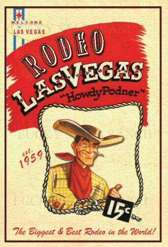 Las Vegas Rodeo 1959  VINTAGE RODEO POSTER