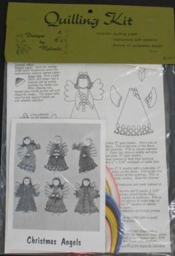 NIP Vintage Quilling Kit CHRISTMAS ANGELS Designs By Malinda Paper Rolling Craft
