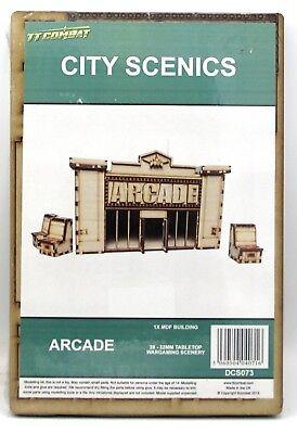 TTCombat DCS073 Arcade (City Scenics) Video Game Parlor Building Terrain Scenery