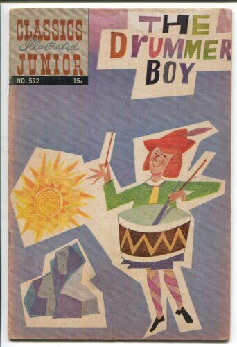 CLASSICS ILLUSTRATED JUNIOR #572 - THE DRUMMER BOY - HRN 572