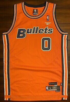Rare Reebok HWC NBA Washington Bullets Wizards Gilbert Arenas Agent 0 Jersey