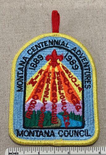 1989 MONTANA COUNCIL Centennial Adventures Boy Scout PATCH Uniform Scouts Camp