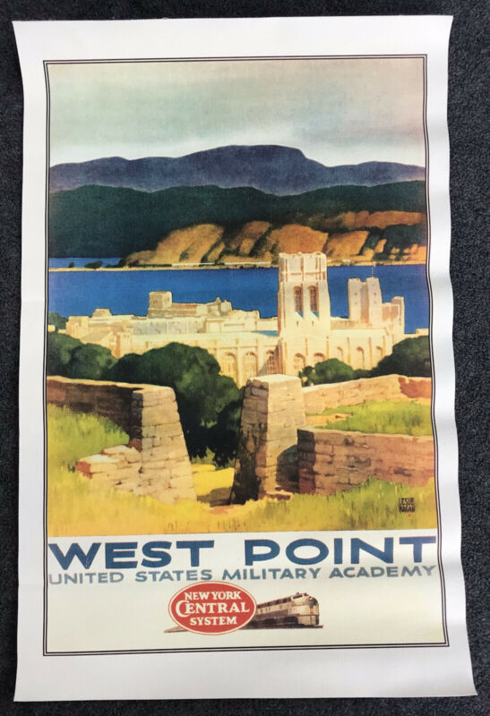 Vintage New York Central RR Advertising Poster West Point Military Academy