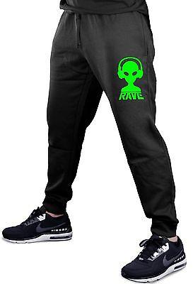 Men's Rave Alien DJ Jogger pants sweatpants fitted Dance Music Party Neon V412 - Alien Pants