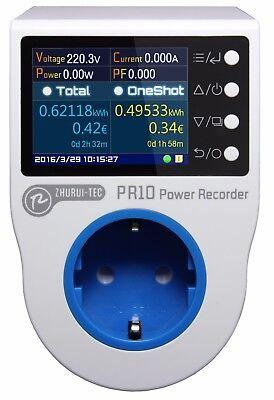 Pr10-c Eu16a Plug Power Meter Wattenergy Meter Kwh Metersocket Meter Tester