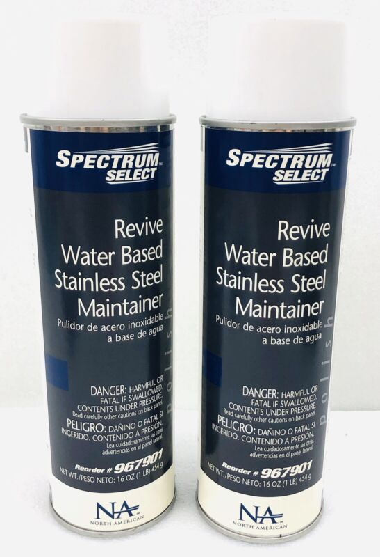 Lot 2 Industrial Commercial Strength Water Based Stainless Steel Polish Cleaner