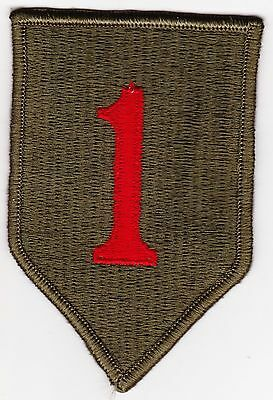 "ORIGINAL U.S. ARMY 1ST INFANTRY DIVISION PATCH ""BIG RED ONE"""