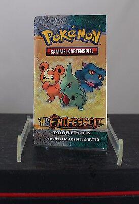 Pokemon Sammelkartenspiel HS Entfesselt Probepack (3 Spielkarten), Neu, OVP