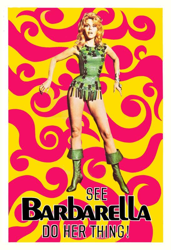 * Barbarella * Jane Fonda Promoional  Movie Poster 1968 Large Format 24x36