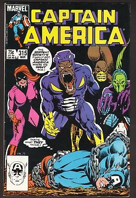 """Captain America #315--""""The Hard Sell""""--The Serpent Society--1986 Comic Book"""