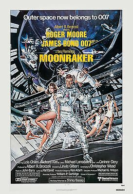 James Bond    Moonraker   Roger Moore Usa  Movie Poster 1979