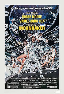 James Bond    Moonraker   Roger Moore Usa  Movie Poster 1979
