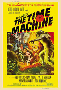 1960s scifi the time machine movie poster 1960 ebay