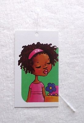 100 Price Tags Accessories Tags Cute Girl In Pink Fashion Tags Self-lock Loops