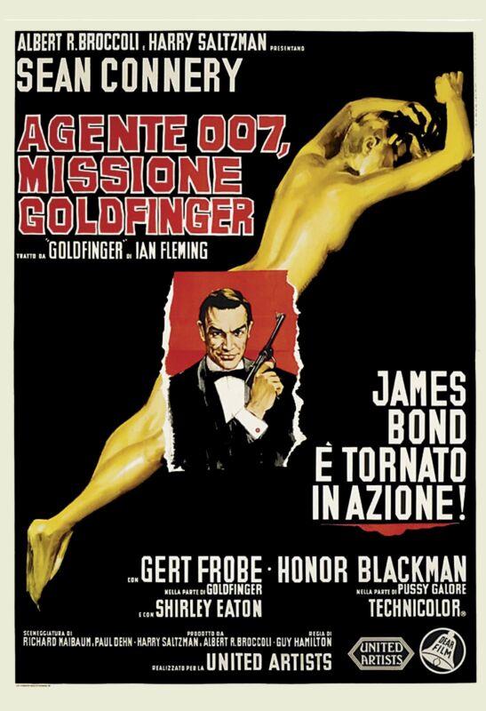 James Bond: * Goldfinger *  Sean Connery Italian Movie Poster 1964