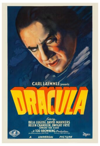 Universal Horror: * Dracula *  Style A Movie Poster  1931  Large Format  24x36