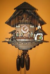 BLACK FOREST MUSICAL ANIMATED WINDMILL CUCKOO CLOCK 8-DAY, LARGE