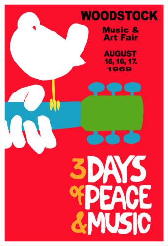 Woodstock concert poster reprint