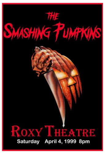Rock: The Smashing Pumpkins The Roxy in Los Angeles Concert Poster  1999 13x19