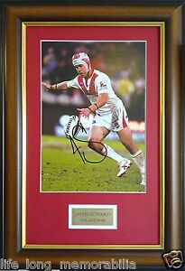 ST GEORGE DRAGONS JAMIE SOWARD SIGNED ANF FRAMED PHOTO