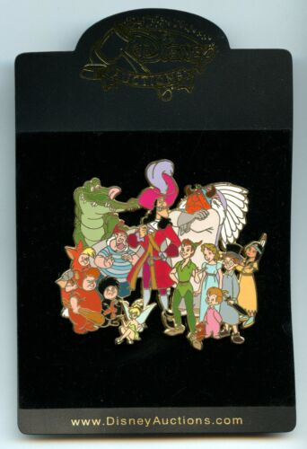 Disney Auctions Peter Pan Tiger Lily Tick Tock Wendy Tink Cast Jumbo LE 100 Pin
