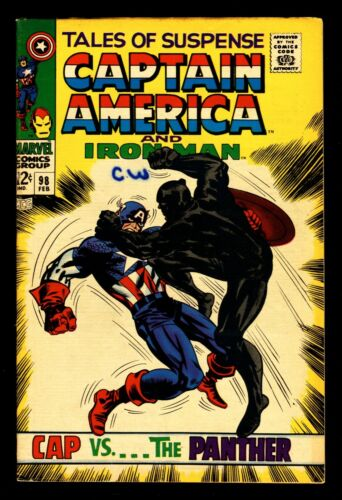 TALES OF SUSPENSE NO. 98 COMIC BOOK IRON MAN AND CAPTAIN AMERICA