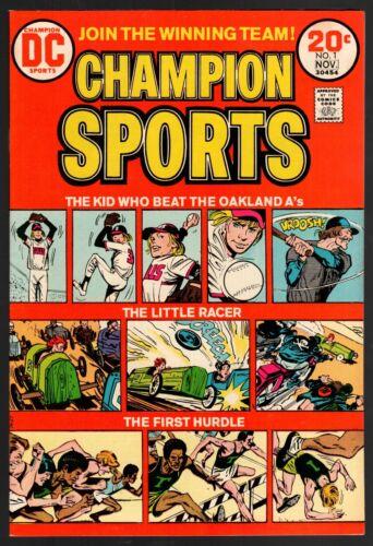 Champion Sports #1 VF/NM 9.0 DC Bronze Age 1973 High Grade!!!