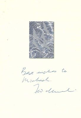 F. W. de KLERK SIGNED AUTOGRAPH, used for sale  Shipping to South Africa