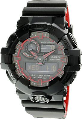 Casio G-Shock Digital Analog Black and Red Watch GA700SE-1A4