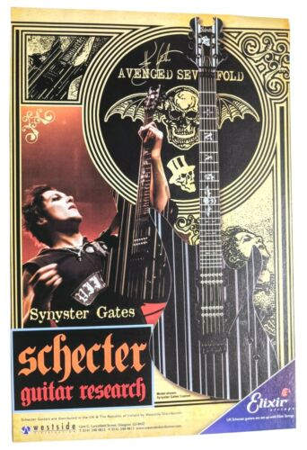 AVENGED SEVENFOLD / SYNYSTER GATES / 2012 SCHECTER GUITARS MAGAZINE PRINT AD