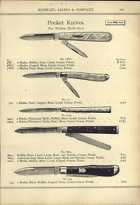 1895 PAPER AD 14 PG The Walden Pocket Knife Knives John Alling Full Size Images