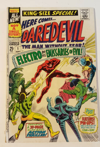 DAREDEVIL KING-SIZE SPECIAL 1 Annual - Gene Colan art, Stan Lee story