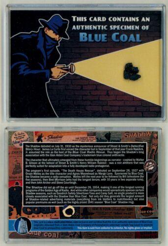 Shadow Knows OTR Old Time Radio Sponsor Authentic Blue Coal Specimen Prop Card