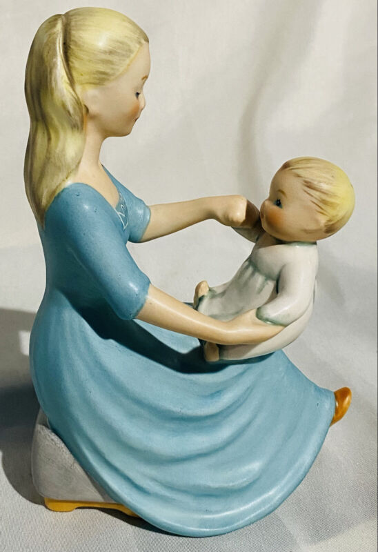 Goebel Rock-a-bye Baby Porcelain Figurine Mother and Child Artist- Charlot Byj