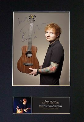 Ed Sheeran ++ Autogramm britischer Singer-Songwriter Game of Thrones Autograph