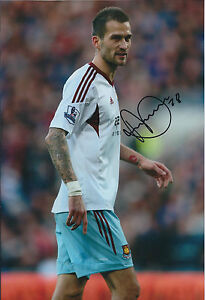 Roger-JOHNSON-SIGNED-12x8-Photo-Autograph-West-Ham-United-AFTAL-COA-Hammers