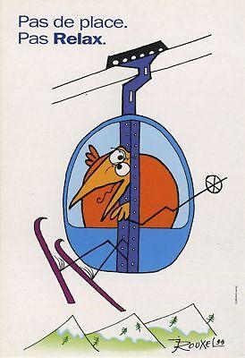 Carte postale Shadoks (Les) Carte publicitaire, Shadock pour Peugeot, 'Pas de pl