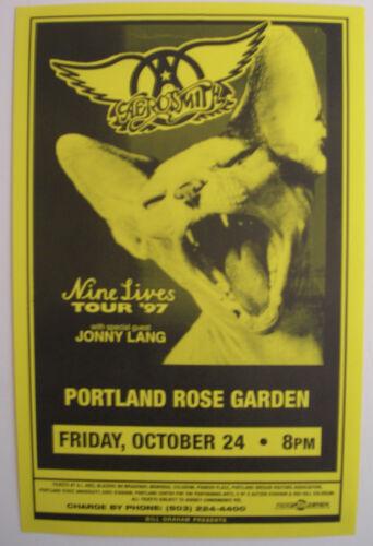 AEROSMITH CONCERT TOUR POSTER 1997 NINE LIVES