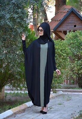 Ferace- Hijab-Abaya-Tesettür Ohne Innenfutter H-8342
