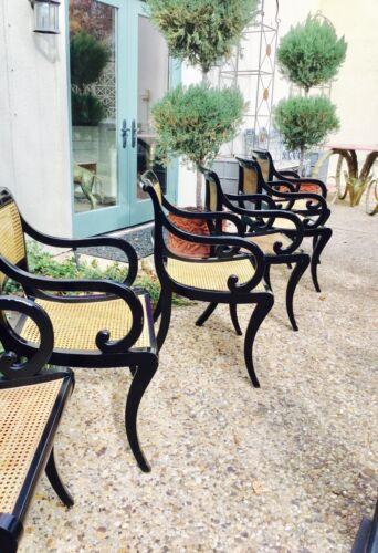 Dining chairs Kittinger cane Regency
