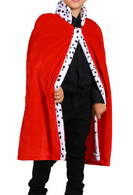 Kostüm Kinder Königsumhang König King Prinz Robe Cape Umhang Mantel rot Karneval